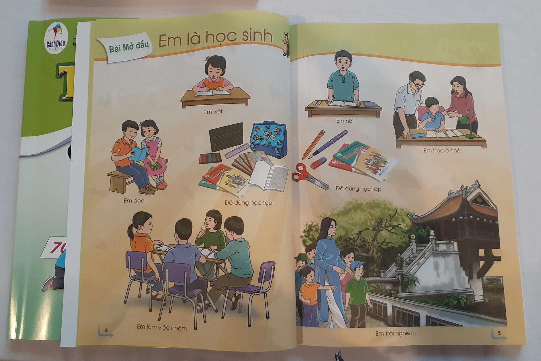 Tận mục sở thị bộ SGK lớp 1 Cánh Diều được sử dụng trong chương trình giáo dục phổ thông mới
